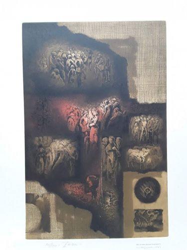 Obra De Hans Suliman Grudzinski signed lithograph 30/100