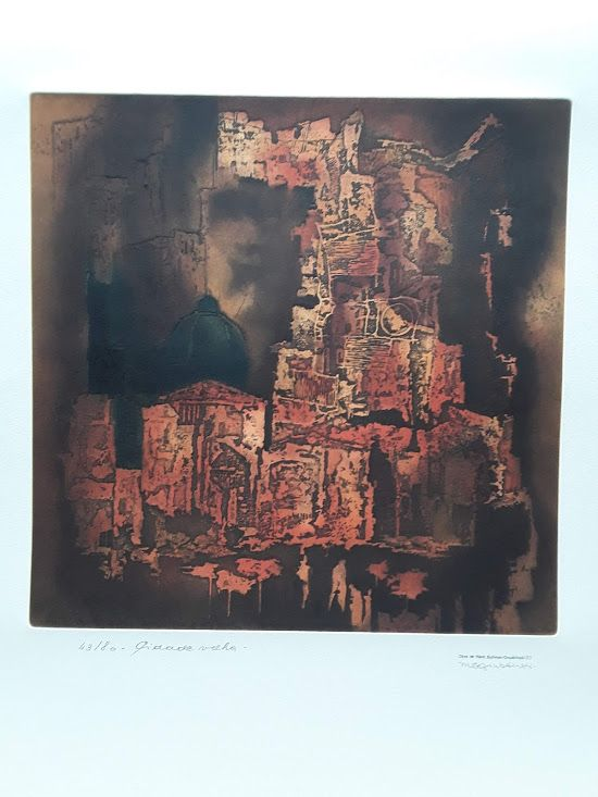 Obra De Hans Suliman Grudzinski signed lithograph 43/80