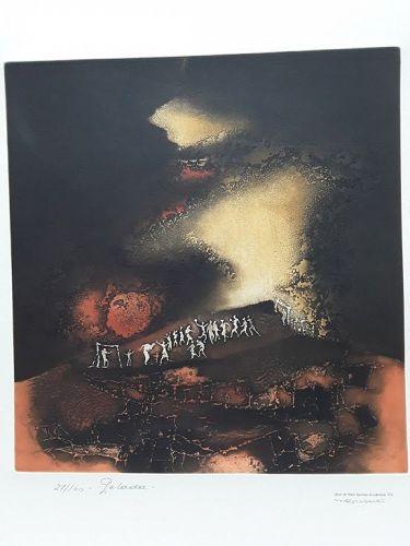 Obra De Hans Suliman Grudzinski signed lithograph 27/100