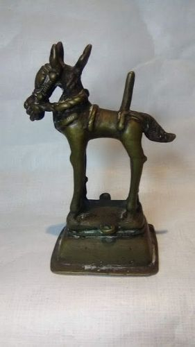 Antique Hindu Jain Bronze Figure of a Horse without rider