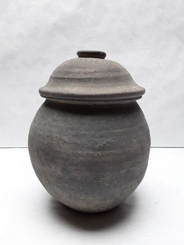Rare Korean Silla Fitted Lidded Urn