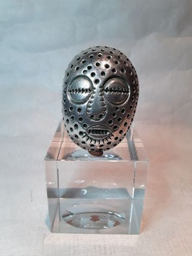 "Alexander Ney Russian American contemporary sculptor ""Silver Mask"""