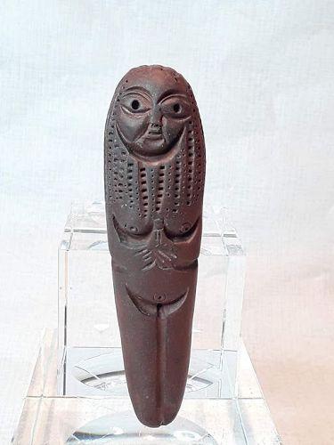 "Alexander Ney Russian American sculptor "" Brown Clay standing Nude"""
