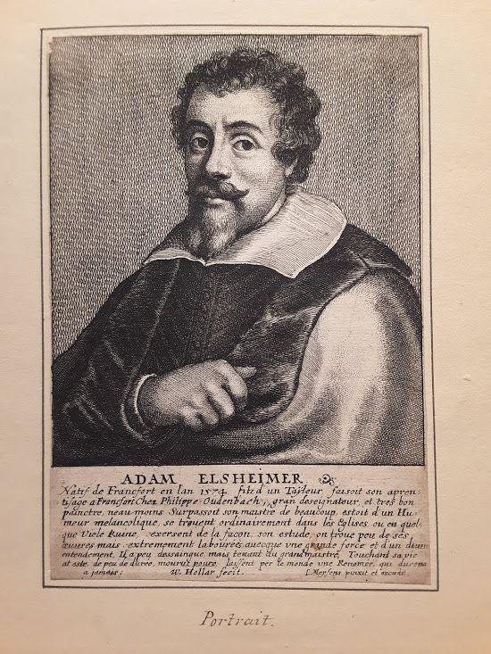 Wenceslaus Hollar Adam Elsheimer, etching 1649