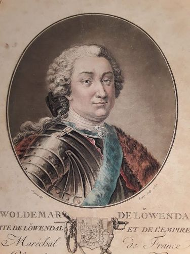 Woldemar de Lowendal 1787 engraved by Roger