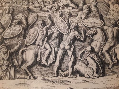 18thc Neoclassical engraved Roman soldier Prints designer lot #202 v6