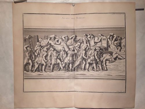 18thc Neoclassical engraved Roman soldier Prints designer lot #203