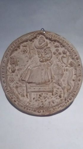 Plaster Grand Tour Great Seal of Queen Elizabeth 1