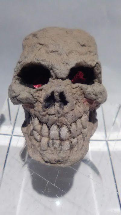 """Michael Lee Ford Outsider folk  Prison art """"skull"""" sculpture"""