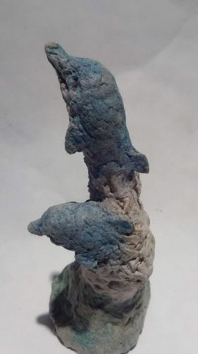 """Michael Lee Ford Outsider Prison art """"Dolphin """" sculpture"""