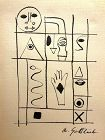 Adolph Gottlieb (American, 1903�1974) Hieroglyph ink on paper , 1944