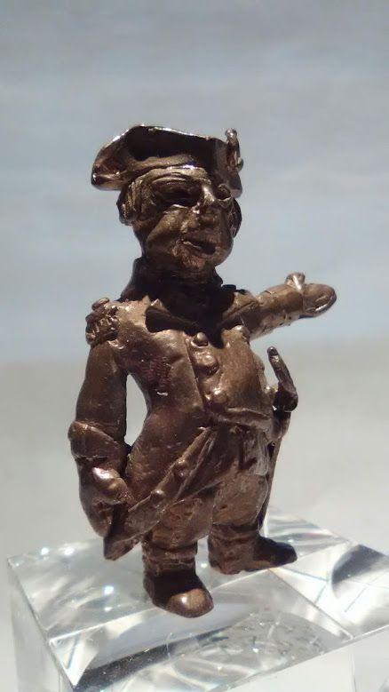 Sterling Edmund Lanier sculptor Bronze British Colonial Admiral