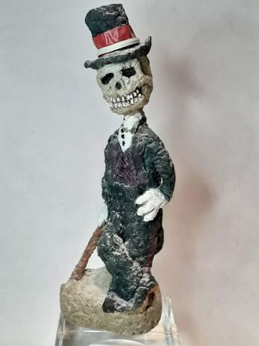 "Michael Lee Ford folk - Outsider Prison art ""Bonez "" sculpture"