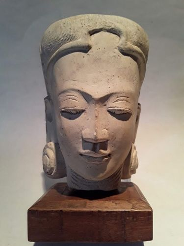 Indonesian Majapahit Tuff stone carved Sculpture Head