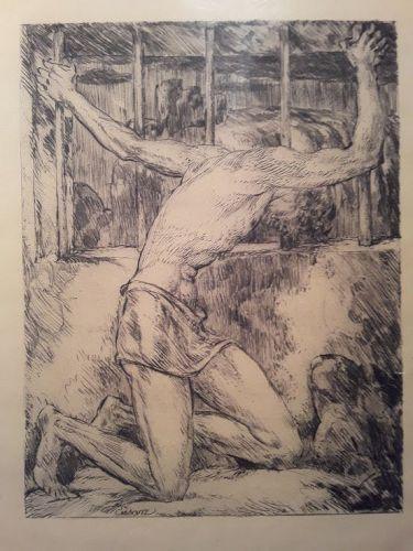 """ The Prisoner "" by Johan Vincenz Cissarz 1922 German Expressionism"
