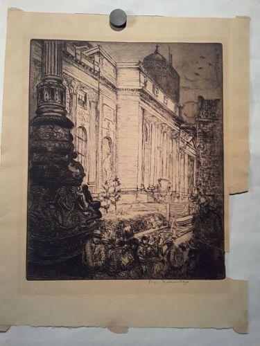 """Fugi Nakamizo """" New York Public Library Print"""""""