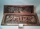 Chinese carved and lacquered architectural panels
