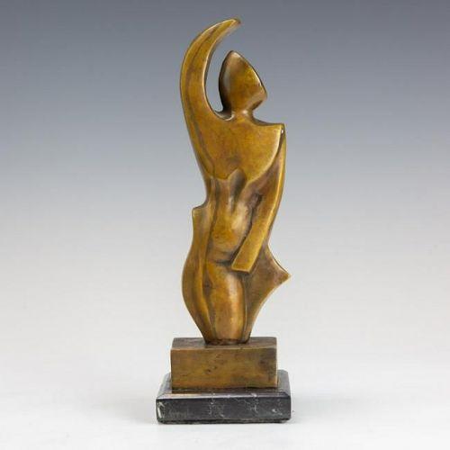 1910-1920 Period French Cubist Bronze mixed metal Sculpture