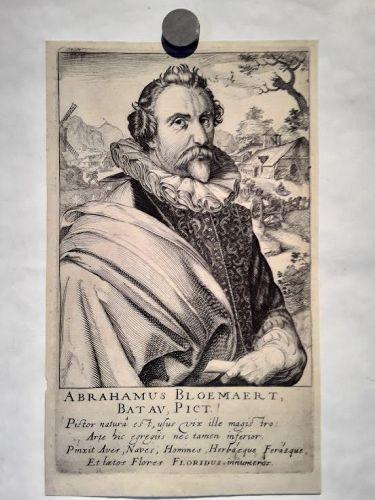 Portrait of Abraham Bloemaert by Frisius, Simon Wijnants (1580-1629)
