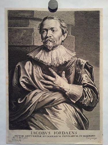 Jacob Jordaens after Sir Anthony Van Dyck by Pieter De Jode II
