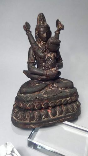 Fine antique Tibetan Vajradhara and Consort figure