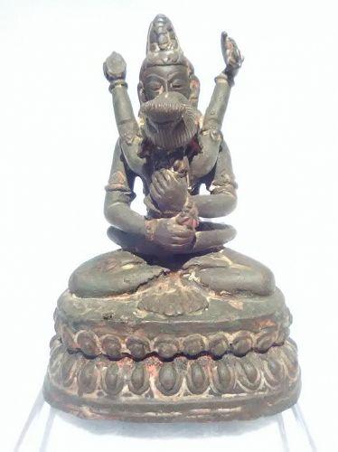 Fine antique Tibetan Vajradhara and Consort figure #2