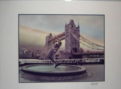 "Gary Seidel ""Tower Bridge""  signed photograph"