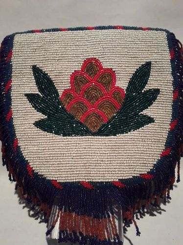 South West American Beaded buckskin tassel panel and Iroquois boot