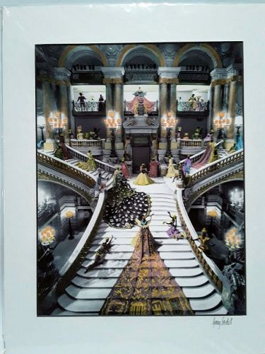 "Garry Seidel "" Night At the Opera"" hand colored Photograph"