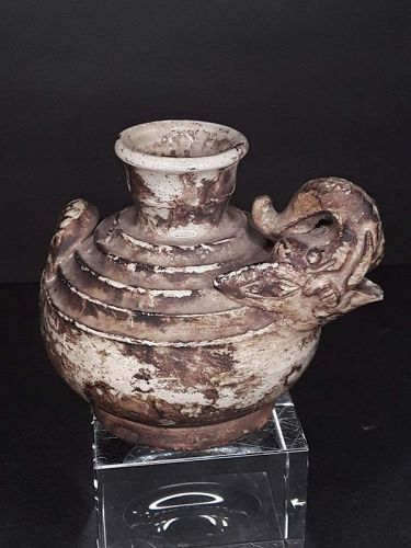 Small Khmer SE Asian Water pot in the form of a Elephant