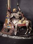 Vienna bronze Chotka Carpet seller with Mule and monkey Lamp