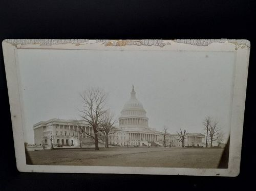 Original 1870s Cabinet card photograph of the Capital