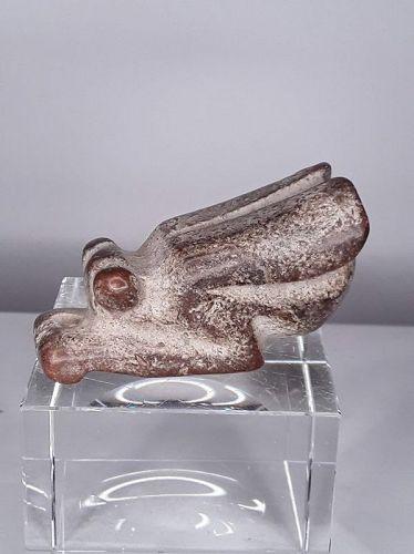 Neolithic Hongshan Nephrite Jade Cicada pendant sculpture