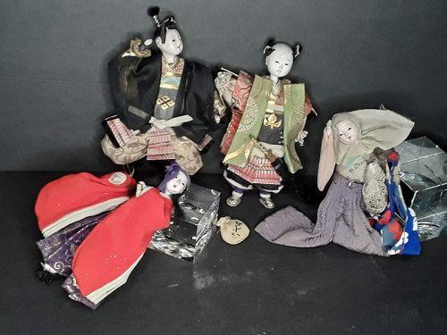 Japanese Meiji Dynasty Group lot of Samurai dolls