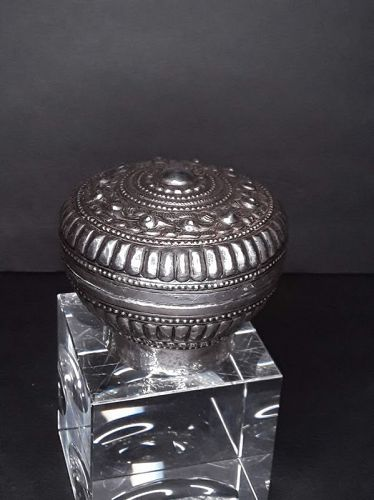 Antique Chinese Silver Repousse humidor stash box