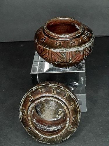 Antique Chinese Brown Glazed Han Dynasty type pots