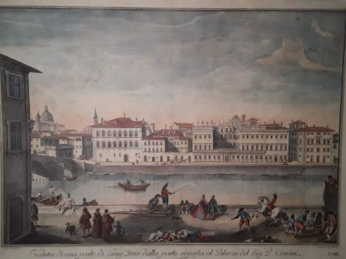 G Zocchi C 1754 view of The Corsini Place on the Arno River