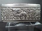 Chinese Bronze? trinket or stash box with Foo dog on lid