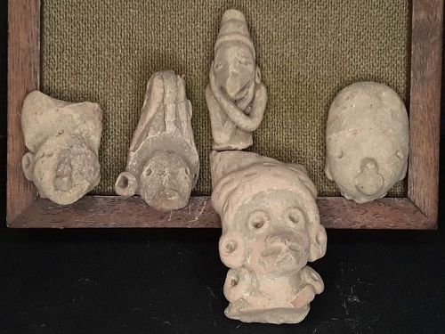 Mexican Pre Columbian Tlatilco Terracotta nice heads Group lot 2