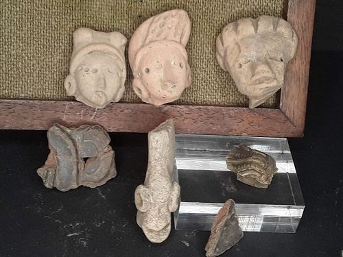 Mexican Pre Columbian Tlatilco Terracotta nice heads Group lot 3