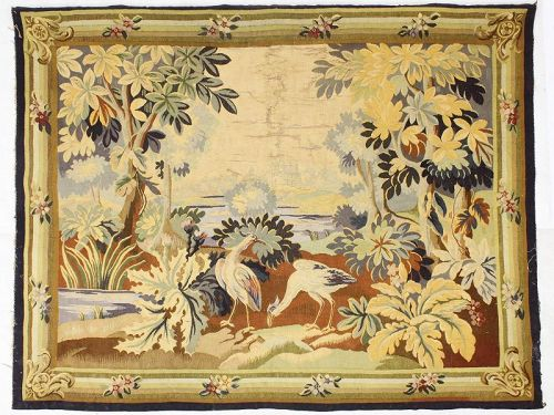 19th c  Aubusson Tapestry  Panel
