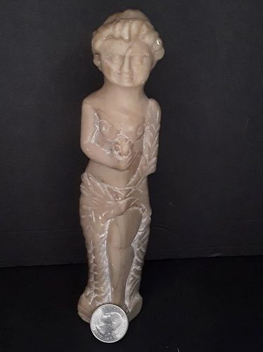 Classical Carved stone Goddess figure Archeologist estate Piece