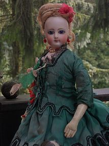 Marvelous French Bisque Poupee in Original Costume