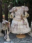 Superb Two Piece French BeBe Costume with Bonnet