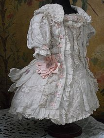 Most beautiful French Muslin Dress with Bonnet