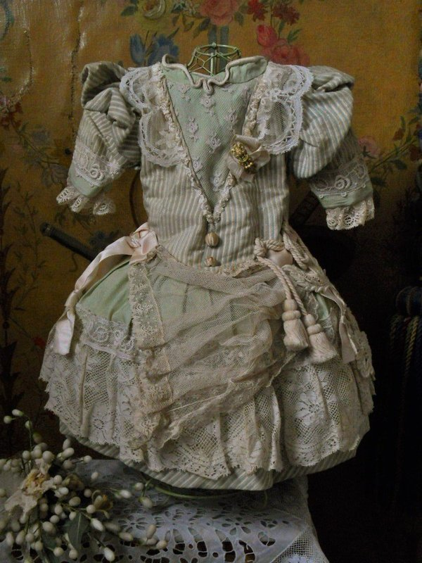 Pretty French Bebe Costume with Bonnet
