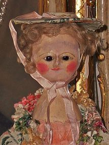 Outstanding Early English Wooden Doll