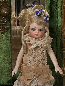 Pretty French All-Bisque Mignonette with Original Costume