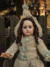 Very Beautiful Bebe Jumeau wearing Original Jumeau Winter Costume