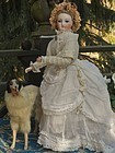 "Pretty French Poupee by Barrois with very rare "" Leon Pannier "" Body"
